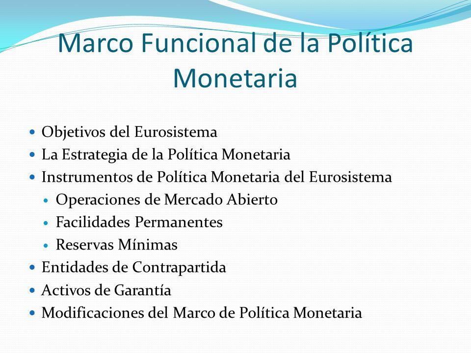 Marco Funcional de la Política Monetaria