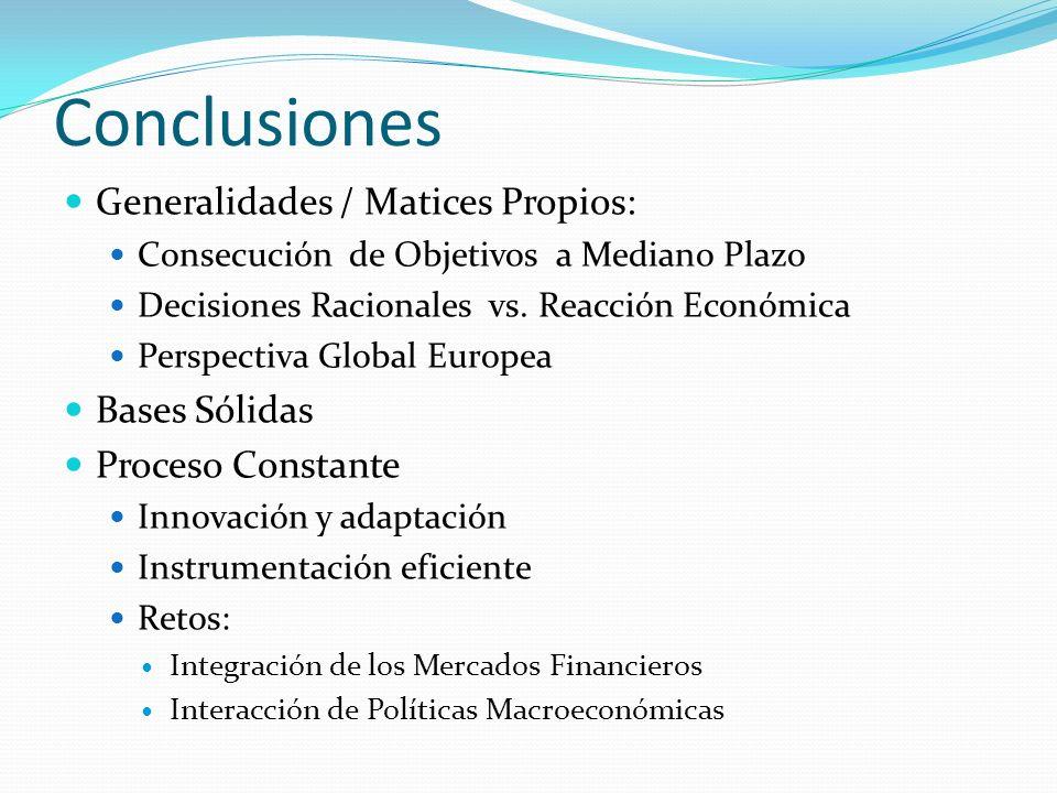 Conclusiones Generalidades / Matices Propios: Bases Sólidas