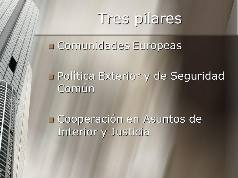 Tres pilares Comunidades Europeas