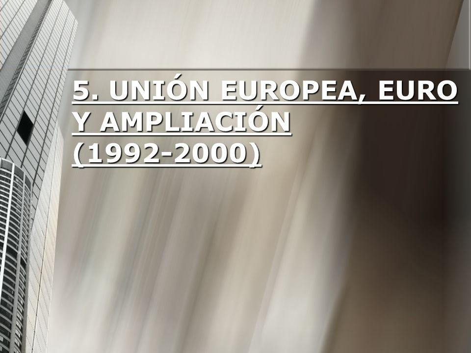 5. Unión Europea, euro y ampliación (1992-2000)
