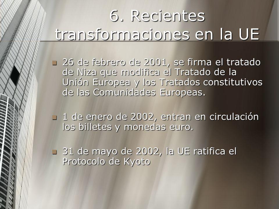 6. Recientes transformaciones en la UE