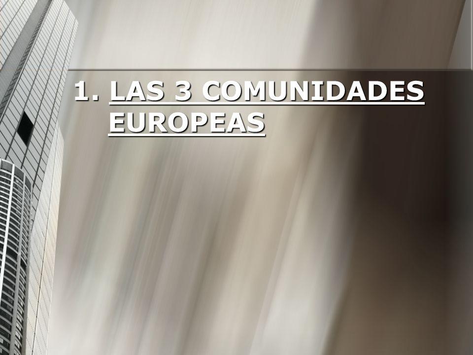 1. LAS 3 COMUNIDADES EUROPEAS