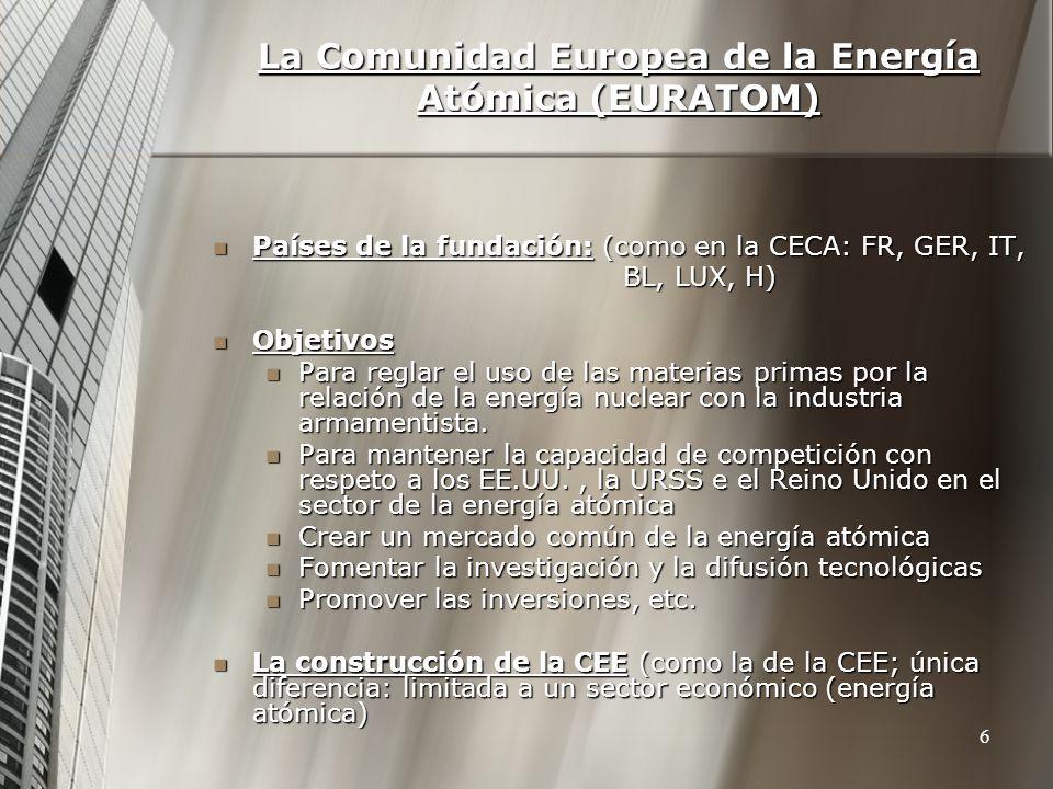 La Comunidad Europea de la Energía Atómica (EURATOM)