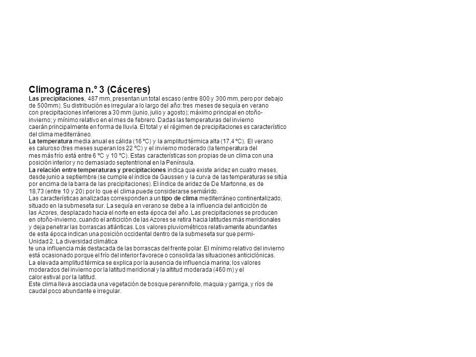 Climograma n.° 3 (Cáceres)