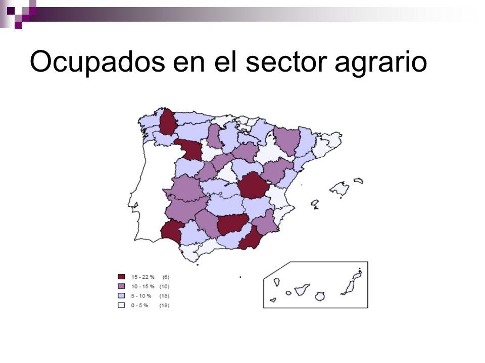 Ocupados en el sector agrario