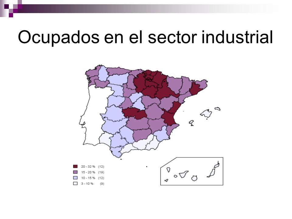 Ocupados en el sector industrial