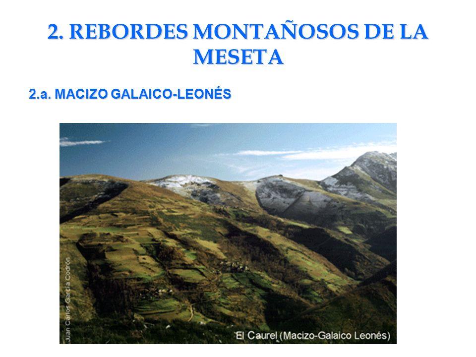 2. REBORDES MONTAÑOSOS DE LA MESETA