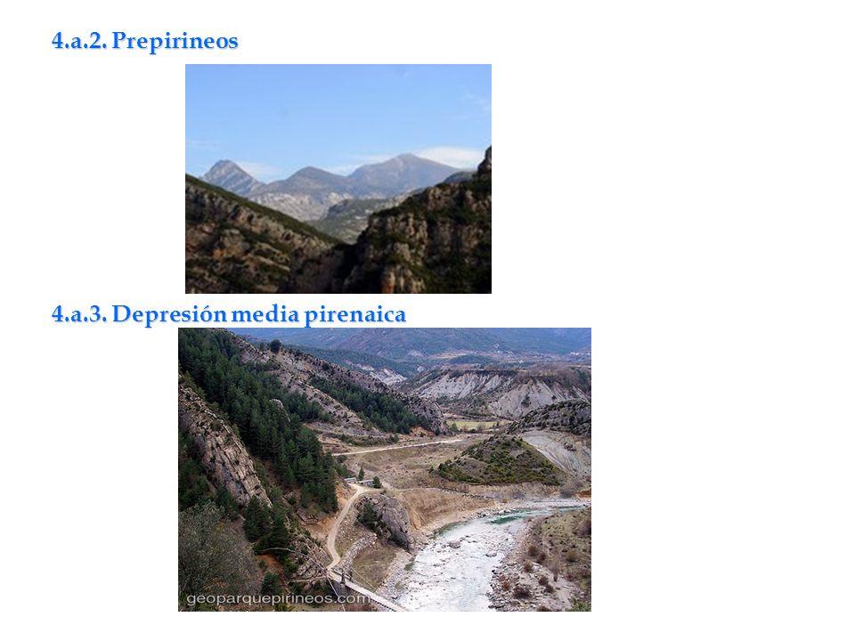 4.a.2. Prepirineos 4.a.3. Depresión media pirenaica