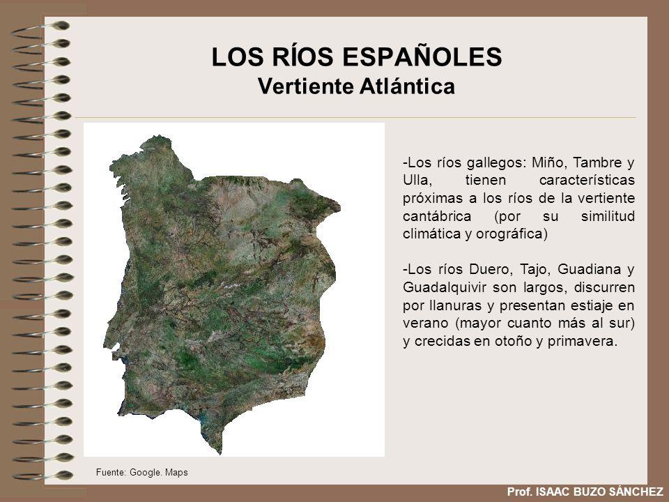 LOS RÍOS ESPAÑOLES Vertiente Atlántica