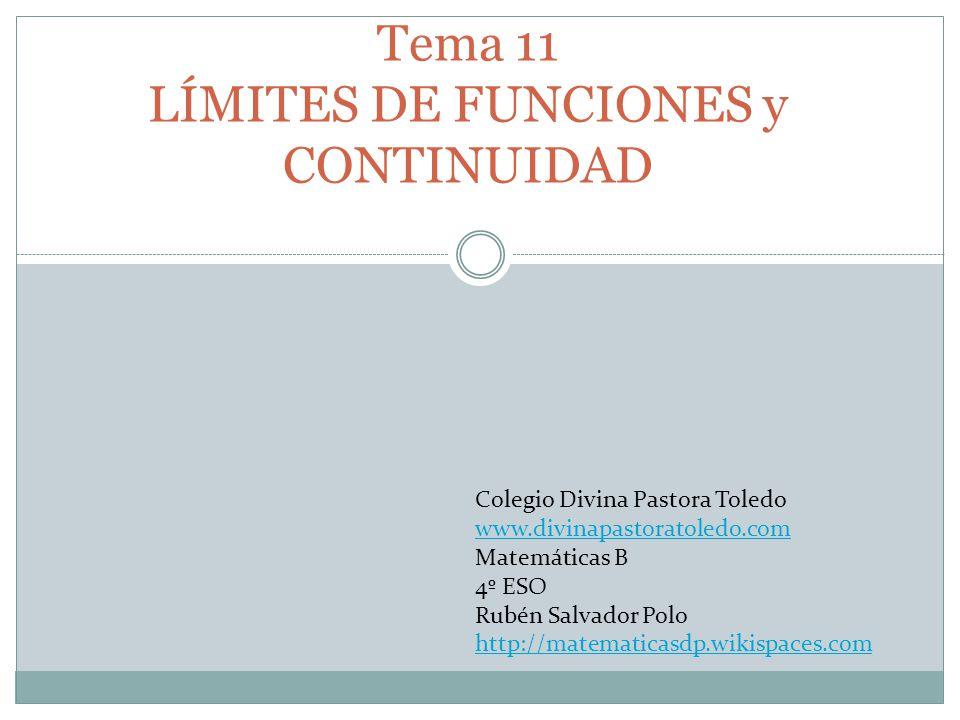 Tema 11 LÍMITES DE FUNCIONES y CONTINUIDAD