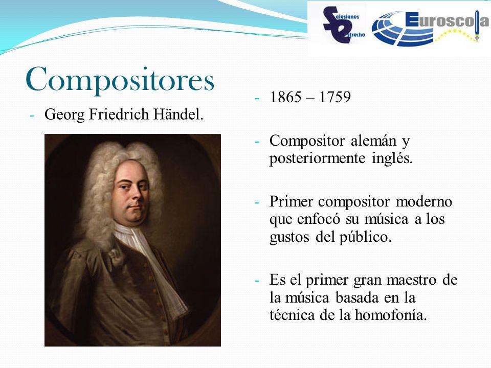 Compositores 1865 – 1759 Georg Friedrich Händel.