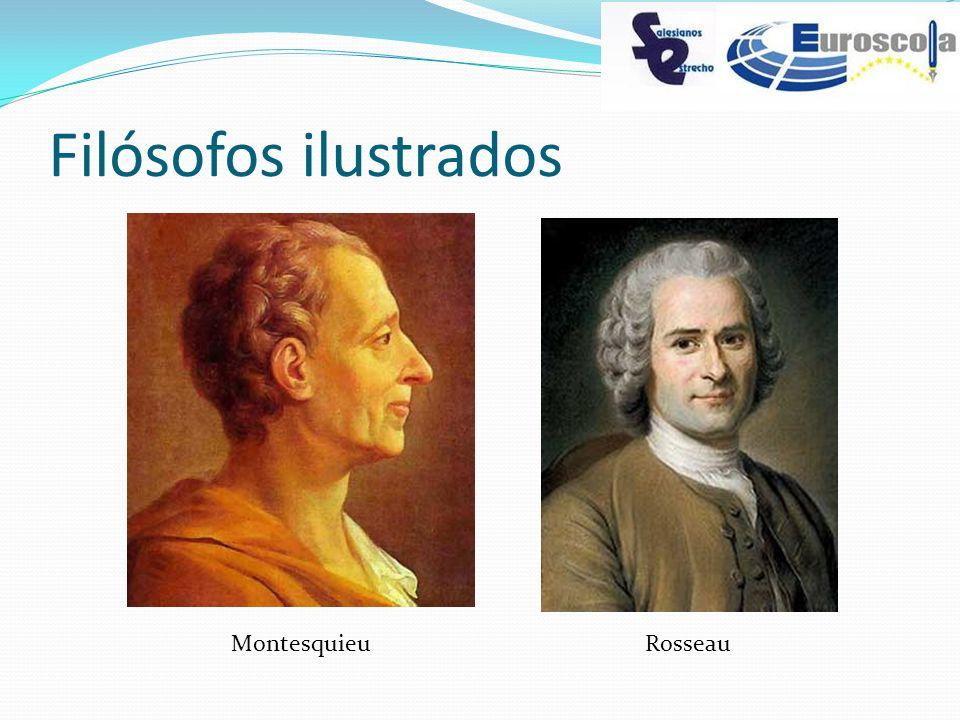 Filósofos ilustrados Montesquieu Rosseau
