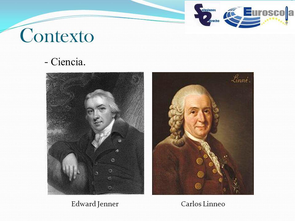 Contexto - Ciencia. Edward Jenner Carlos Linneo