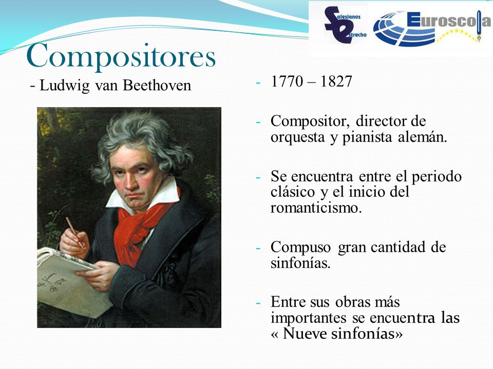 Compositores 1770 – 1827 - Ludwig van Beethoven