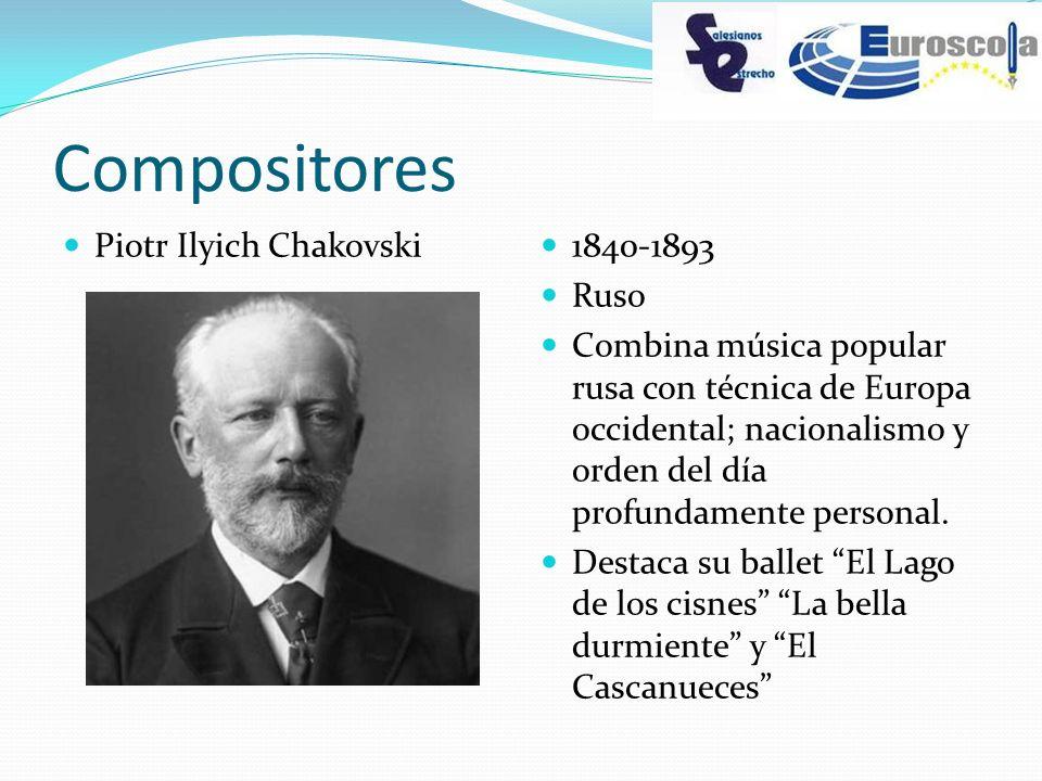 Compositores Piotr Ilyich Chakovski 1840-1893 Ruso