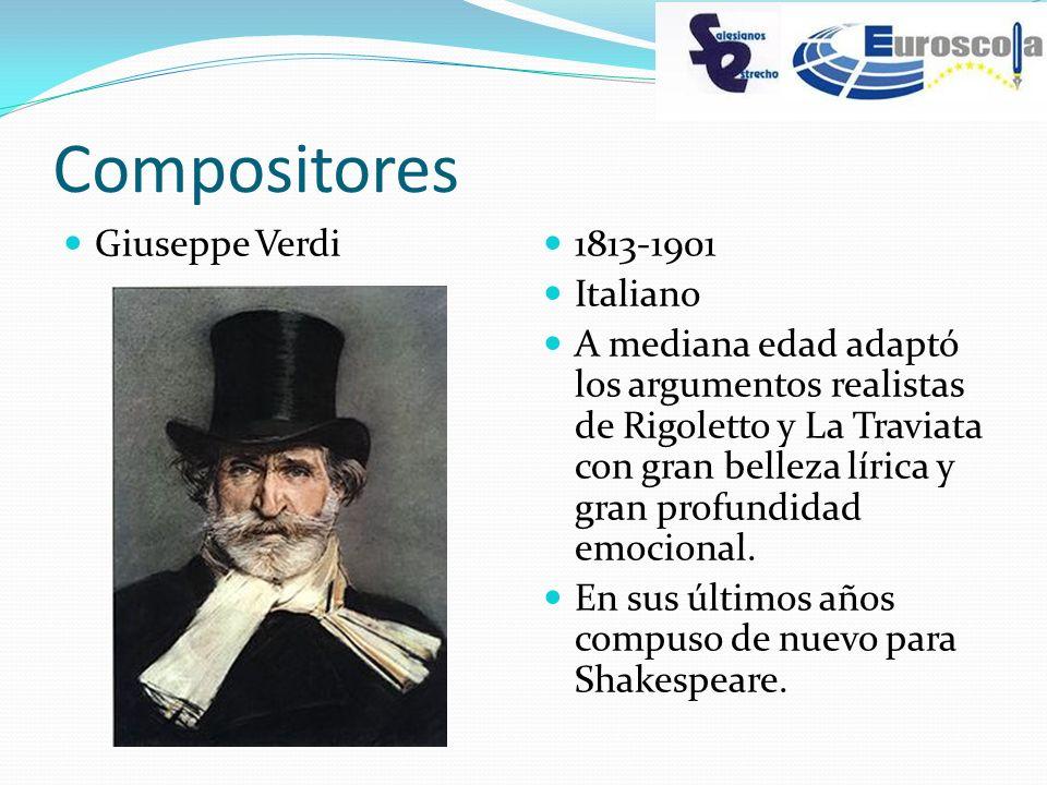 Compositores Giuseppe Verdi 1813-1901 Italiano
