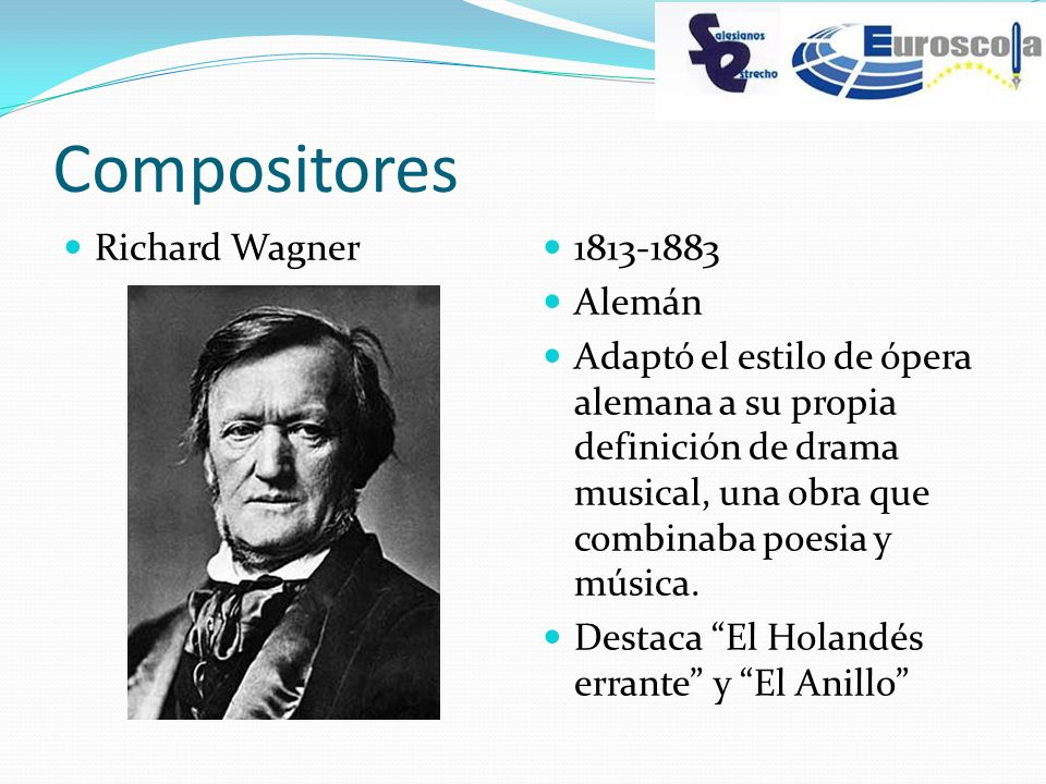 Compositores Richard Wagner 1813-1883 Alemán