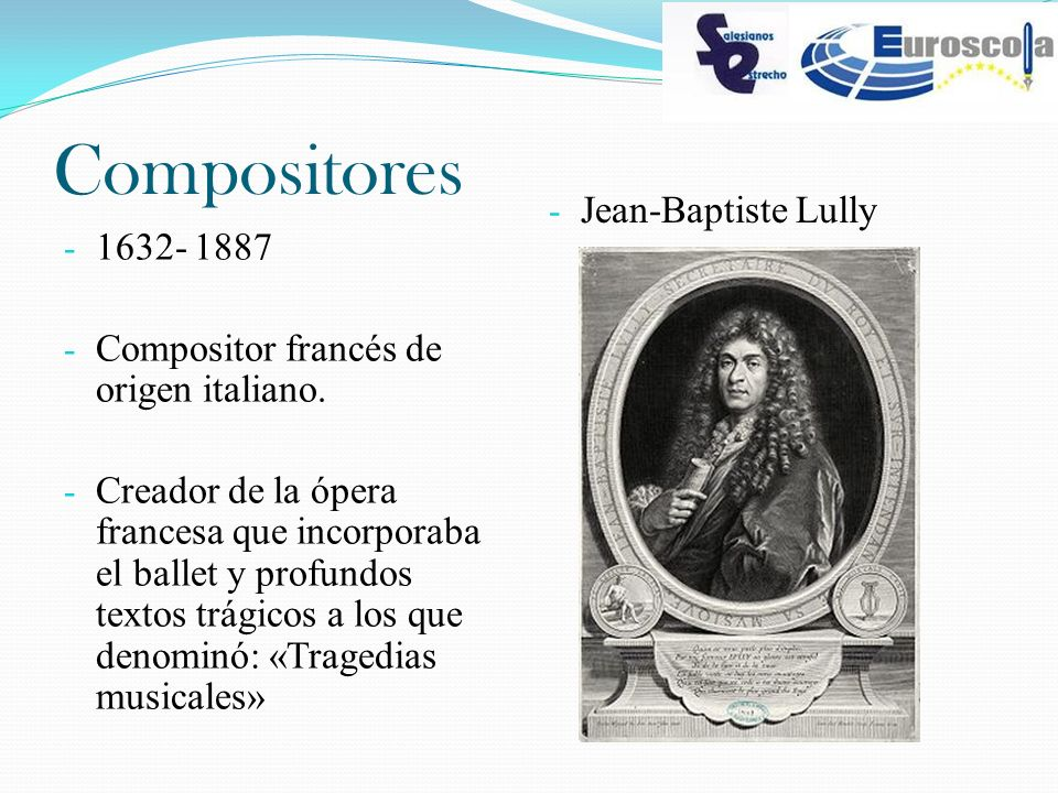 Compositores Jean-Baptiste Lully 1632- 1887