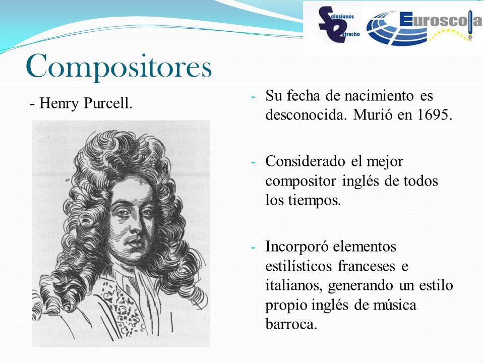 Compositores Su fecha de nacimiento es desconocida. Murió en 1695.