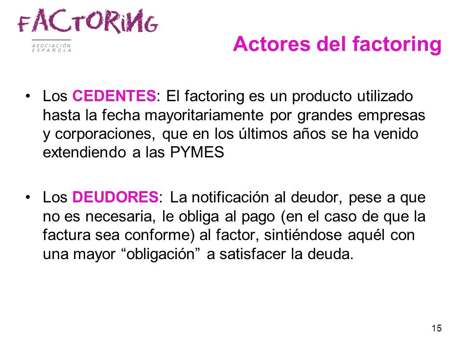 Actores del factoring