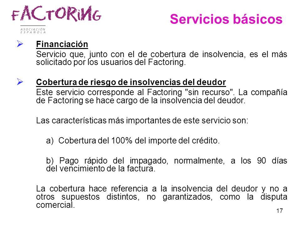 Servicios básicos Financiación
