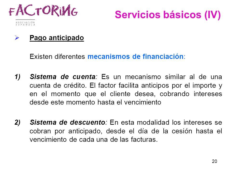 Servicios básicos (IV)