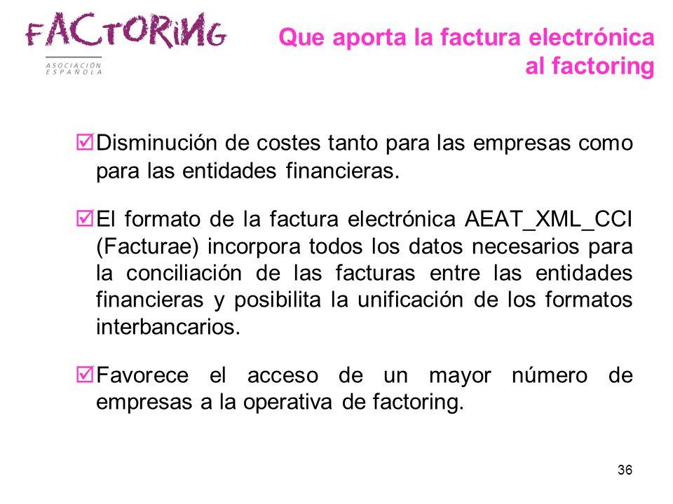 Que aporta la factura electrónica al factoring