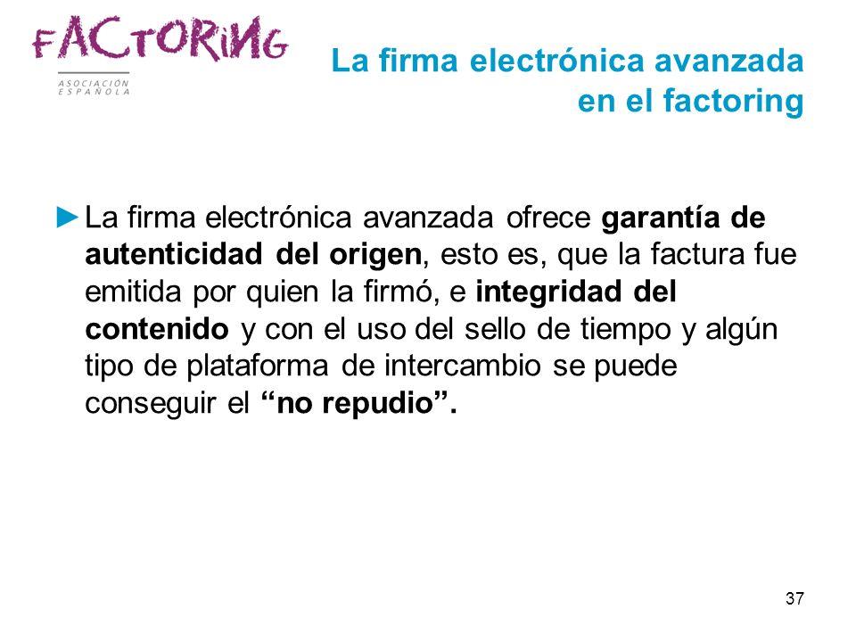 La firma electrónica avanzada en el factoring