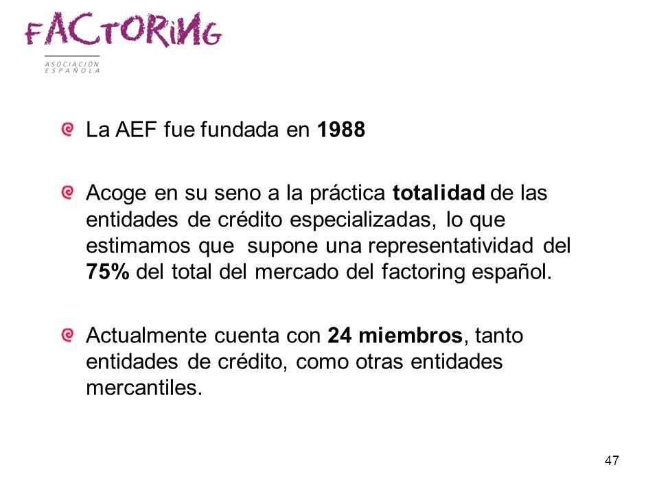 La AEF fue fundada en 1988