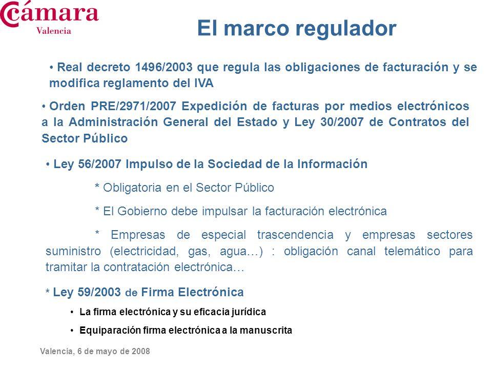 El marco regulador Real decreto 1496/2003 que regula las obligaciones de facturación y se modifica reglamento del IVA.