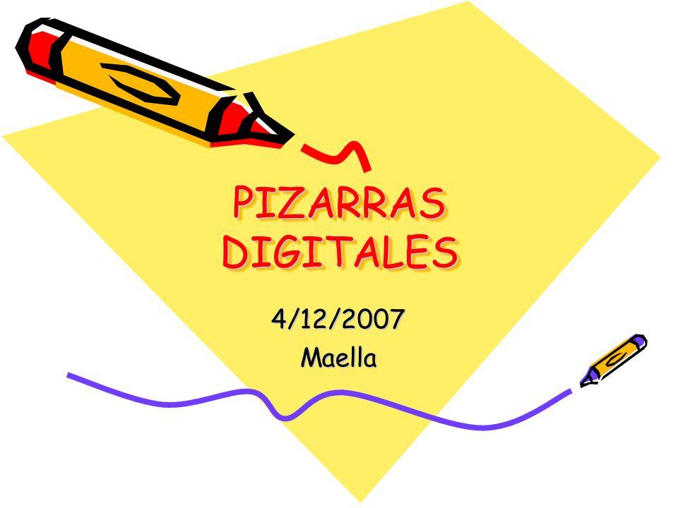PIZARRAS DIGITALES 4/12/2007 Maella