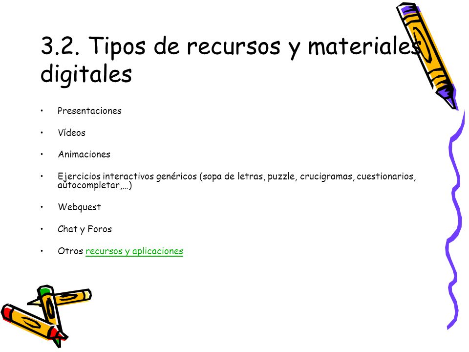 3.2. Tipos de recursos y materiales digitales