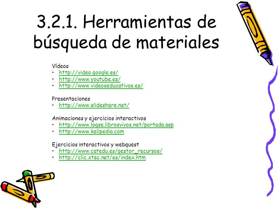 3.2.1. Herramientas de búsqueda de materiales