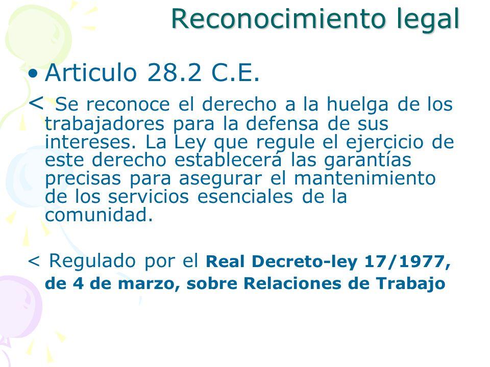 Reconocimiento legal Articulo 28.2 C.E.