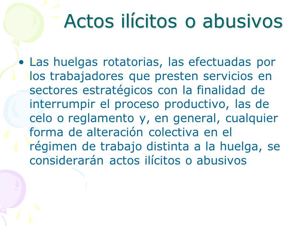 Actos ilícitos o abusivos
