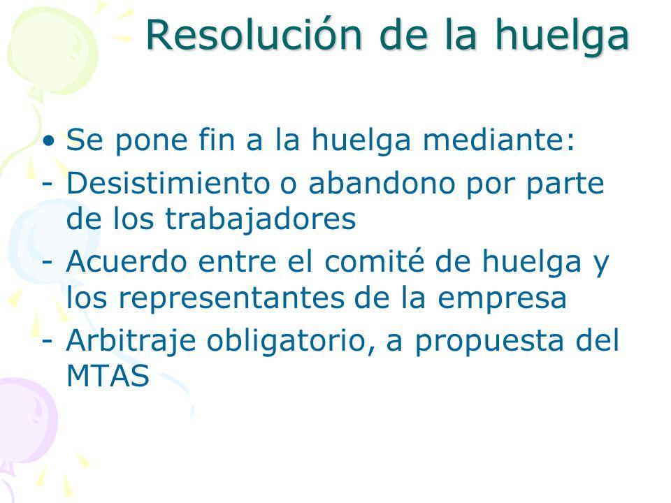 Resolución de la huelga
