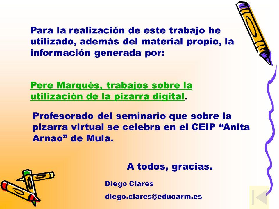 Pere Marqués, trabajos sobre la utilización de la pizarra digital.