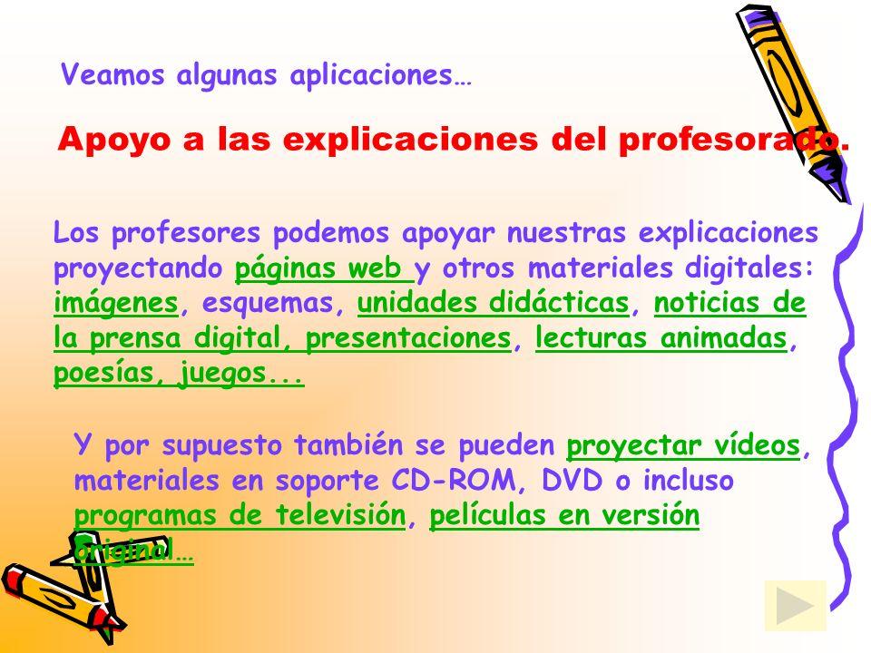 Apoyo a las explicaciones del profesorado.