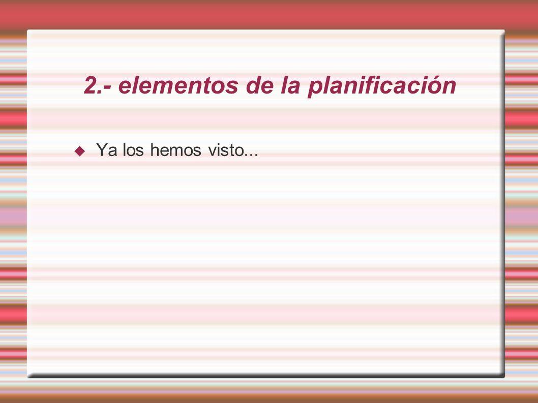 2.- elementos de la planificación