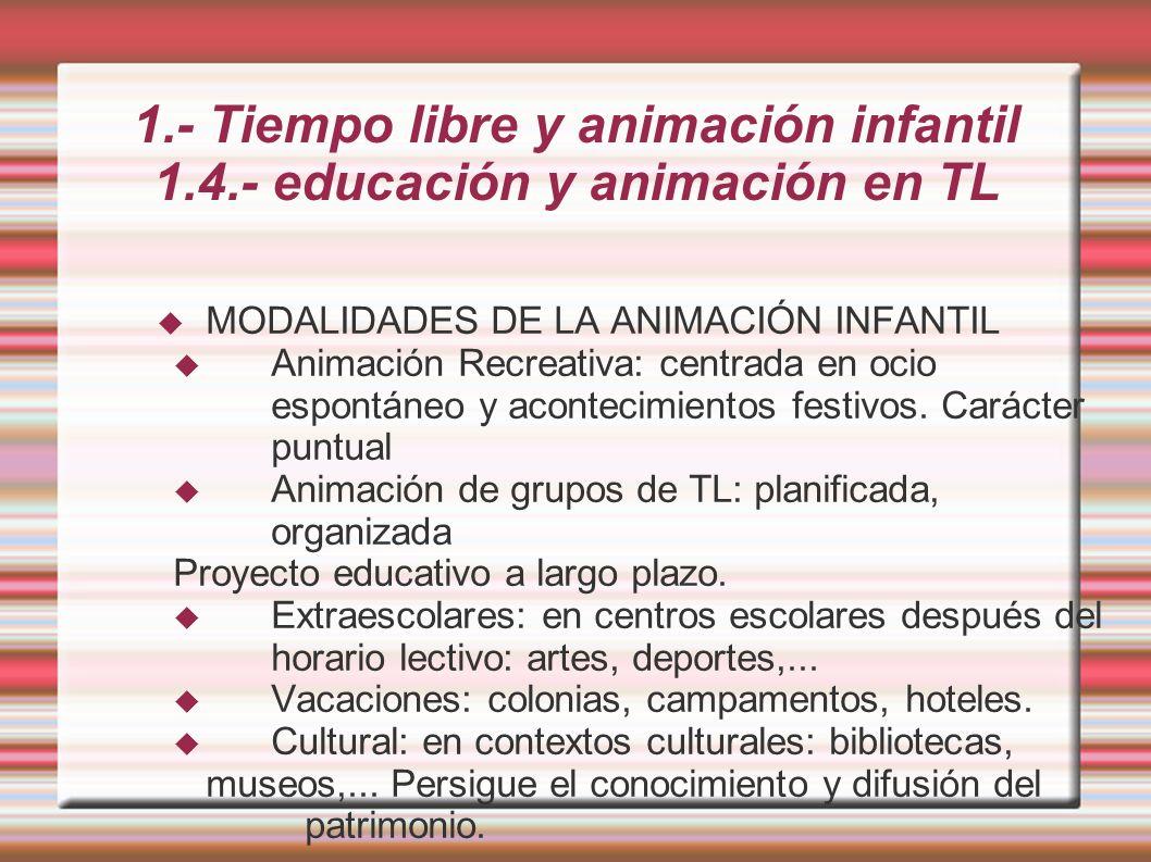 1. - Tiempo libre y animación infantil 1. 4