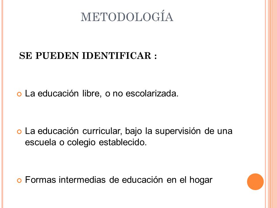 METODOLOGÍA SE PUEDEN IDENTIFICAR :