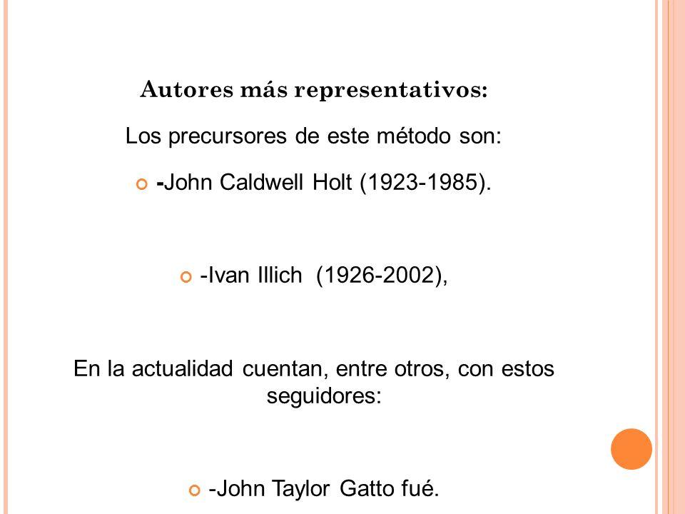 Autores más representativos: