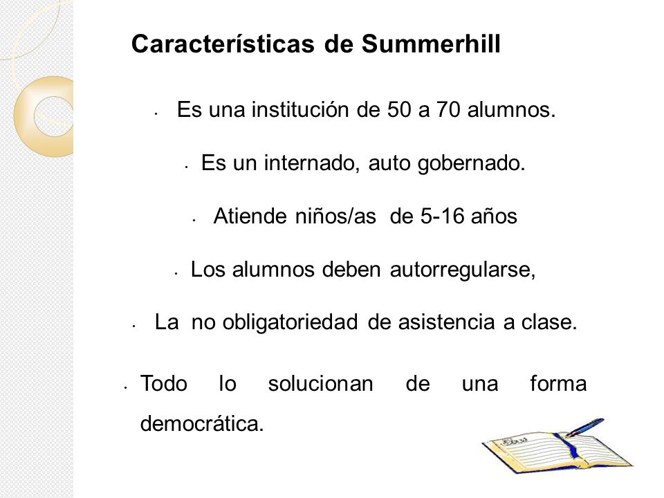 Características de Summerhill