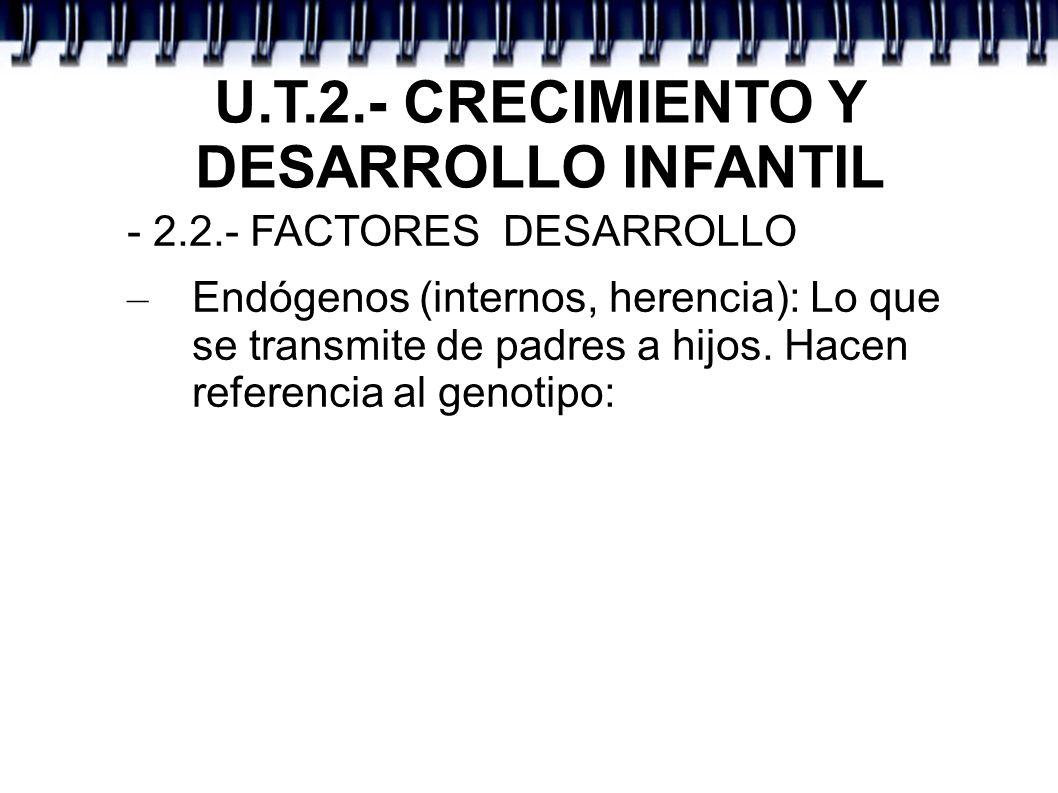 U.T.2.- CRECIMIENTO Y DESARROLLO INFANTIL