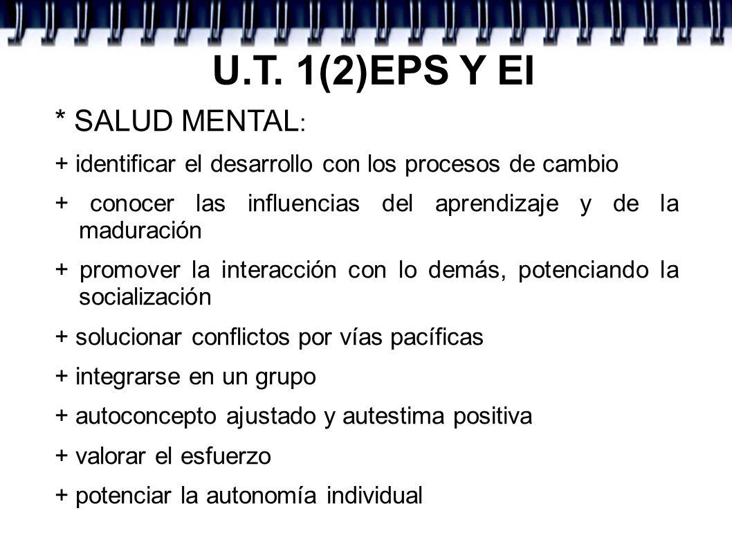 U.T. 1(2)EPS Y EI * SALUD MENTAL: