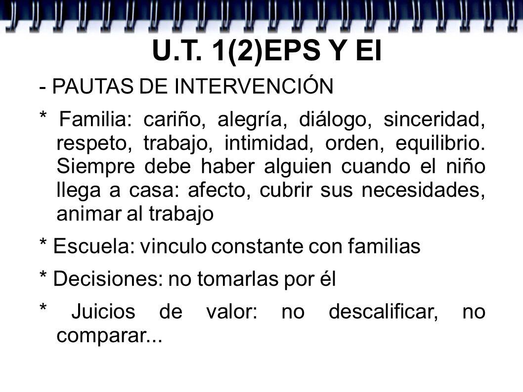 U.T. 1(2)EPS Y EI - PAUTAS DE INTERVENCIÓN