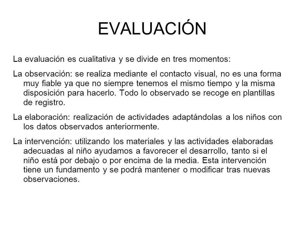 EVALUACIÓN La evaluación es cualitativa y se divide en tres momentos: