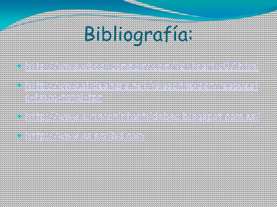 Bibliografía: http://www.wbookcompany.com/textoartic07.html