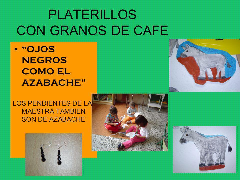 PLATERILLOS CON GRANOS DE CAFE