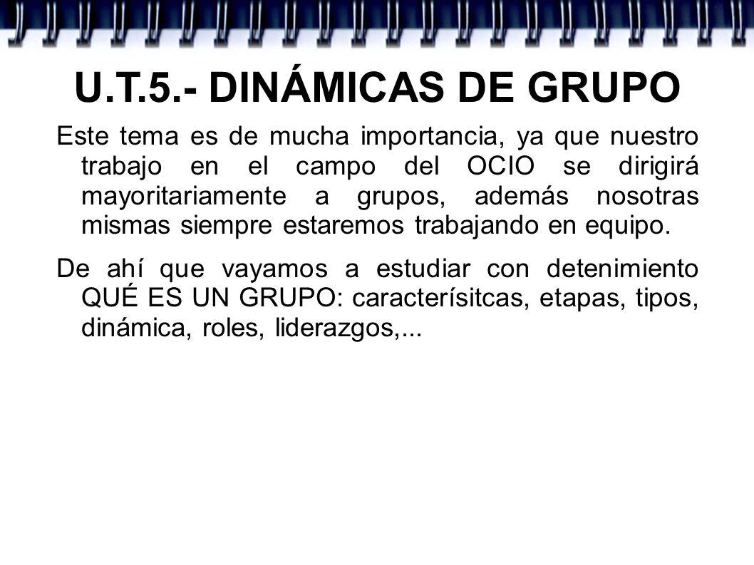 U.T.5.- DINÁMICAS DE GRUPO